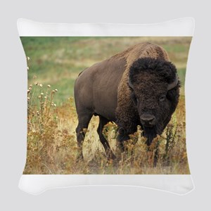 American buffalo Woven Throw Pillow